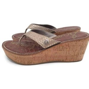 Sam Edelman Womens Romy Thong Wedge Sandals 7M